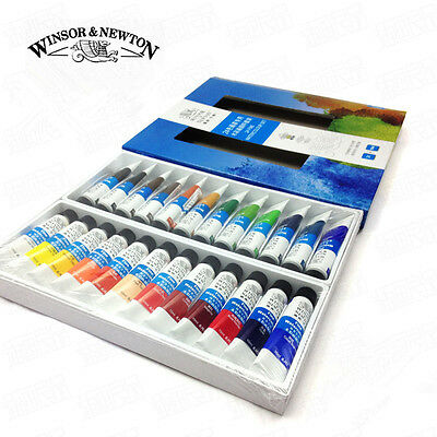 Winsor Artist Grade Transparent Watercolor Paint Set 24 Colors Oil Painting