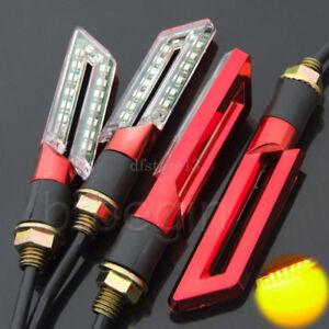 4x-16-LED-Rouge-Universal-Moto-signal-indicateur-Clignotant-Feux-Jaune-Lumiere