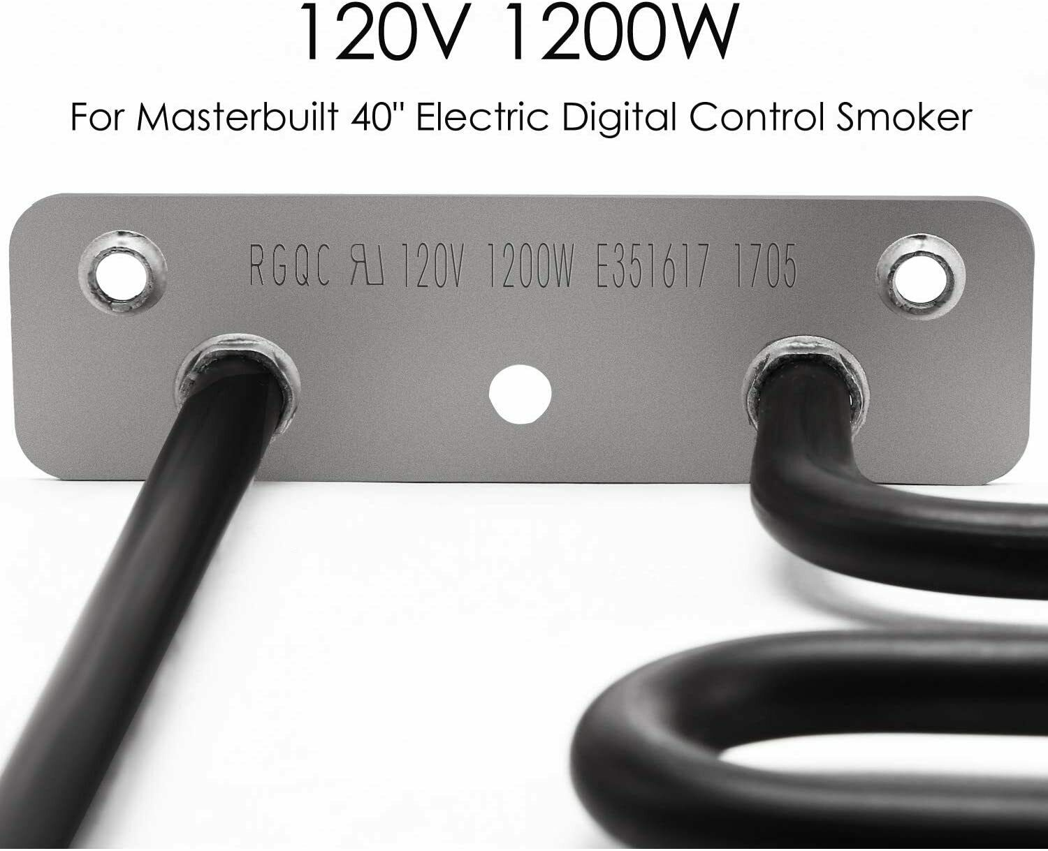 PitsMaster Replacement Electric Smoker 1200 Watts Heating Element for Masterbuilt Heating Element 40 Electric Digital Control Smoker