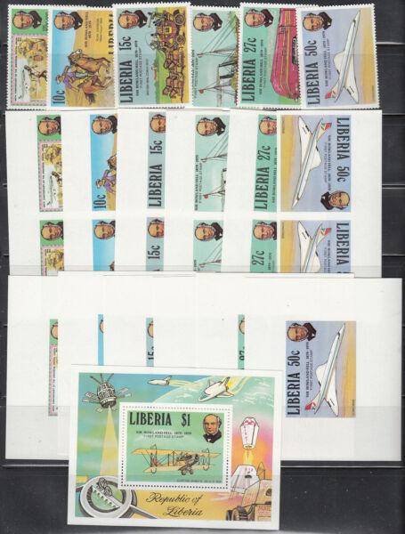Bien éDuqué Libéria # 842-47 Neuf Sans Charnière + Imperf Paire + Présentation Sheelets Roland Hill Set