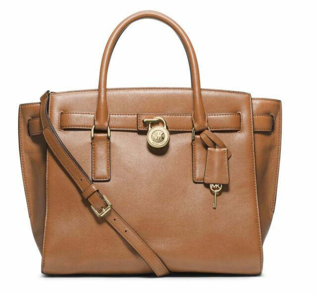 michael kors hamilton traveler large leather satchel in sultan rh ebay com