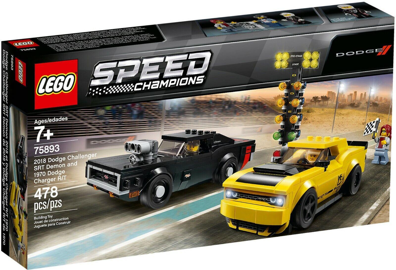 Lego Speed Meister 75893 - 2018 Dodge Challenger Srt Demon E 1970 Dodge Charge