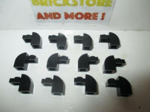 Choose Quantity x2 Brick Brique 1x2x1 1//3 Curved 6091 Black//Noir Lego x8