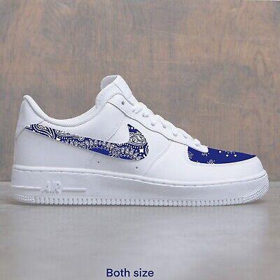 Air Force 1 Blue Bandana Custom Size 9