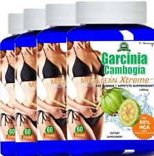4 Pure Garcinia Cambogia Extract 100% HCA Diet Weight Loss 1000mg Potassium Calc
