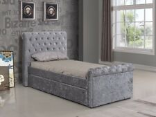 0c14eae41 item 8 BRAND NEW 3FT SILVER CRUSHED VELVET TRUNDLE BED WITH 2 X MEMORY FOAM  MATTRESS -BRAND NEW 3FT SILVER CRUSHED VELVET TRUNDLE BED WITH 2 X MEMORY  FOAM ...
