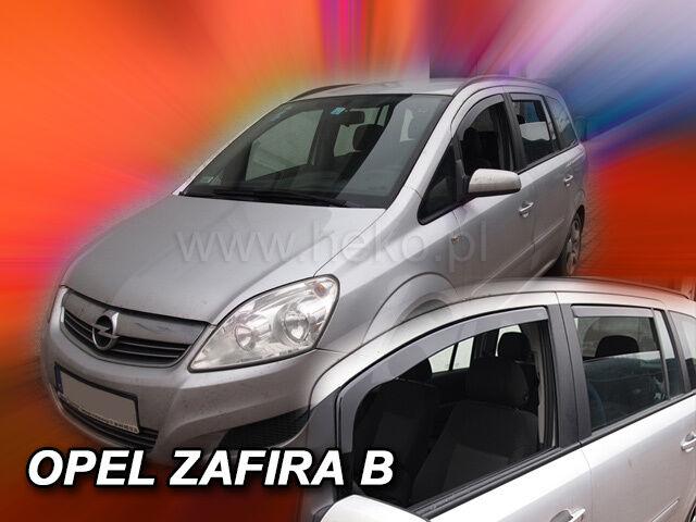 4-teilige schwarze Gummifußmatte für OPEL Zafira B Bj 2005-2014