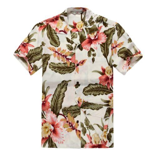 Couple Matching Shirt Dress Luau Hawaiian Cruise Short Tank Cream Rafelsia