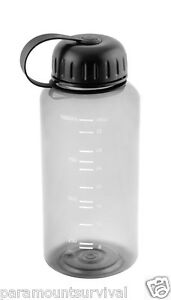 1 liter wide mouth water bottle smoke color bpa free camping hiking survival new ebay. Black Bedroom Furniture Sets. Home Design Ideas
