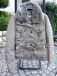orig-PEUTEREY-hochwertige-Jacke-Gr-40-ital-46-mit-Daunenfuellung-und-Echtpelz