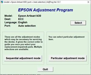 DIGITAL DOWNLOAD RESET EPSON UNLIMITED ARTISAN 1430 ADJUSTMENT PROGRAM