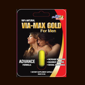 VIA-MAX-GOLD-HERBAL-Enhancer-Supplement-5-Pills-USA-3000-series-FREE-SHIPPING