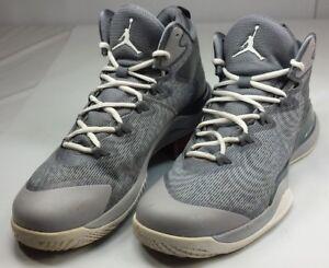 af5d10b32d86b Nike Men s Air Jordan Super Fly 3 Basketball Shoes Gray 684933 EUC ...