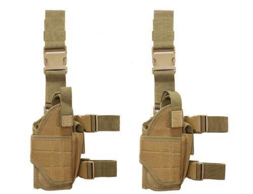 Tactical Military Airsoft Pistol Gun Drop Left Right Leg Thigh Holster Pouch Bag