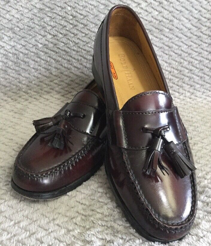 Prezzo al piano Cole Haan Pinch Tassel Moc Toe Burgundy Leather Leather Leather Loafers Dimensione 7.5 Mens  ecco l'ultimo