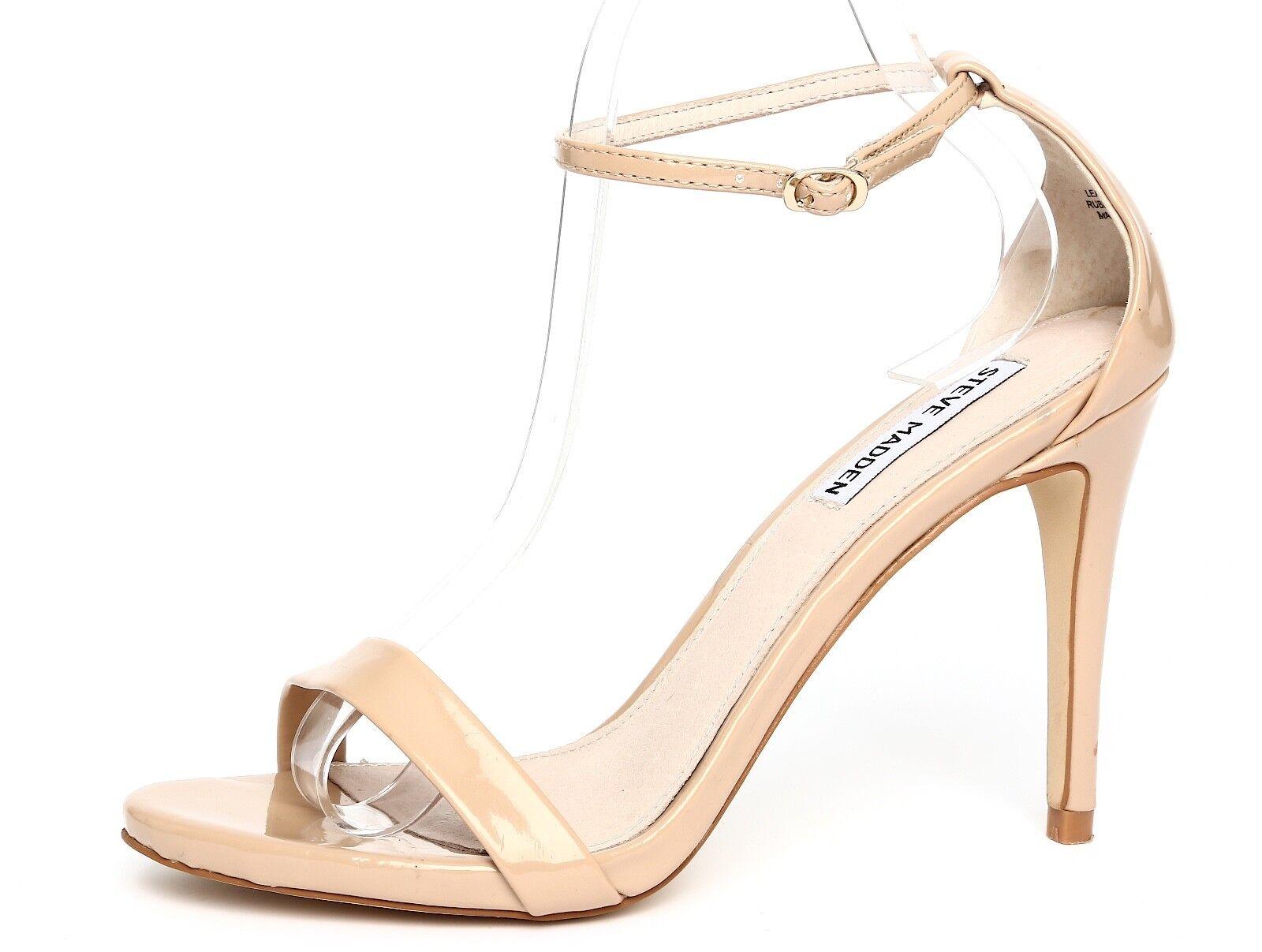 nuovi prodotti novità Steve Madden Madden Madden Stecy Patent Leather Nude Ankle Strap Sandal Heels Sz 8.5M 1111  vendita online