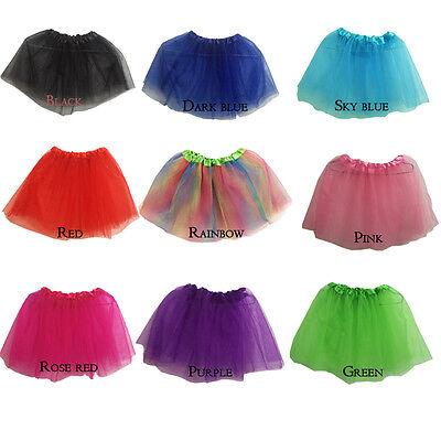 Women Adult KID's Tulle Dancewear Tutu Ballet Pettiskirt Princess Party Skirt