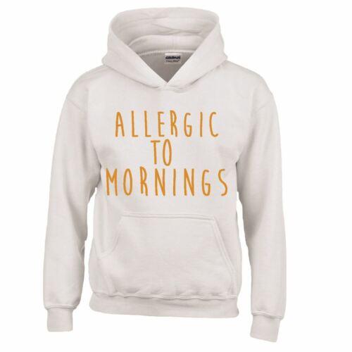 Allergique aux matinées Pullover Pull Hommes Femmes Enfants Hoodies Drôle Blague Cadeau
