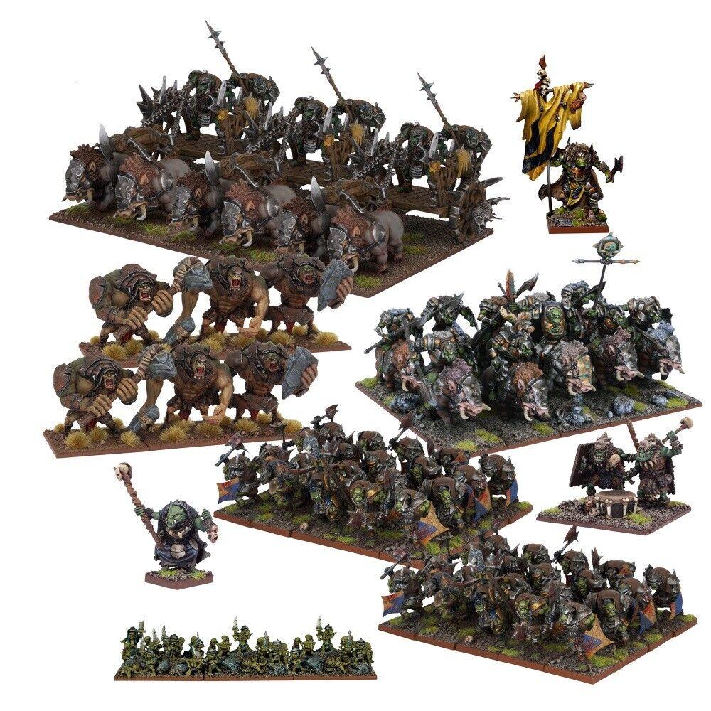 Kings of War Nuevo Y En Caja Orco Mega Ejército mgkwo 111 (2017)