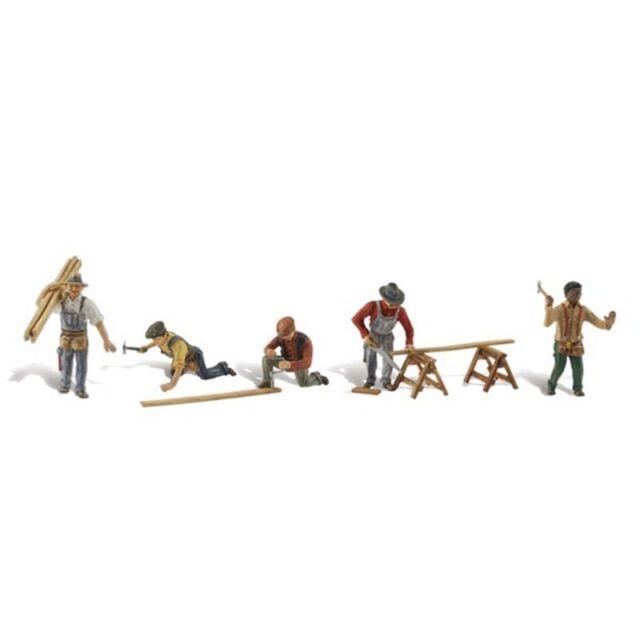 Painted Carpenter Crew (OO/HO figures) Woodland Scenics A1947 F2