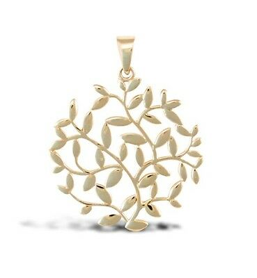 9 Ct Yellow Gold Tree Of Life Pendant Hallmarked Solid 9 Carat Gold
