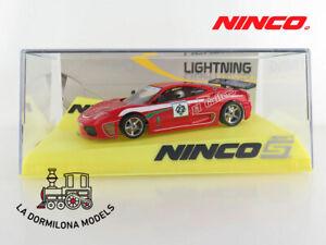 NINCO-50535-FERRARI-F360-034-EL-GAITERO-RALLY-034-LIGHTNING-SLOT-SCALEXTRIC-NUEVO