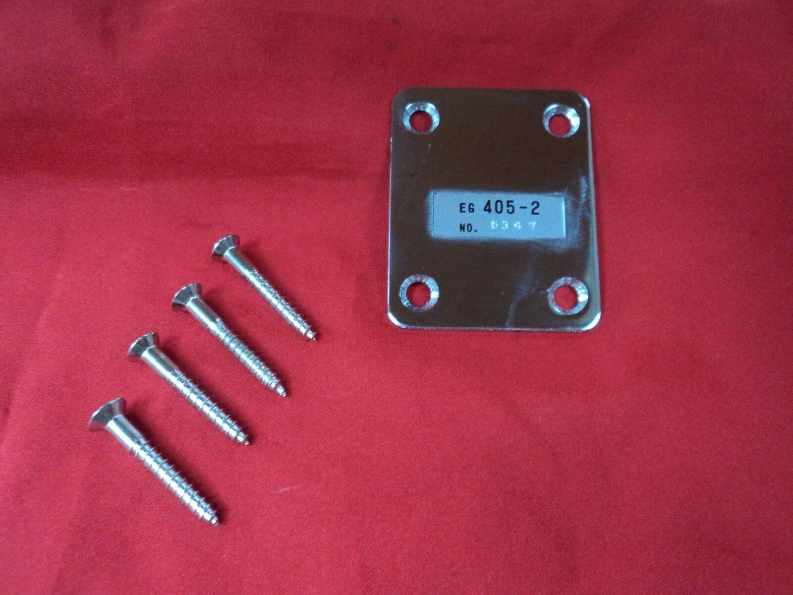 VINTAGE TEISCO ELECTRIC GUITAR MODEL 405-2 NECK PLATE w SCREWS JAPAN MIJ