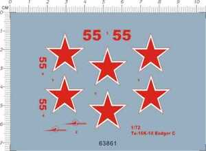 Super-Detail-1-72-Scale-Tu-16K-10-Badger-C-Airforce-Model-Kit-Water-Slide-Decal
