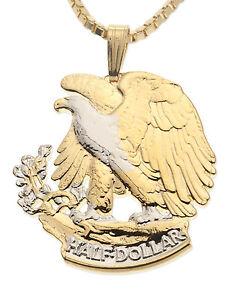 bald eagle pendant amp necklace us 50 cents cut coin 1