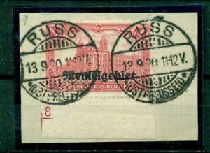 Memel-auf-Germania-Nr-9-gestempelt-auf-Briefstueck-Ecke-mit-Nr-3