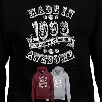 New 21st Annivarsary Birthday 1998 Gift Men Women Present Inspired Hoodie Dress Dauerhafter Service