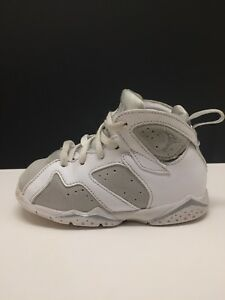 c094dc2eb179f1 Nike Air Jordan 7 VII Retro Pure Money Platinum Silver White 304772 ...