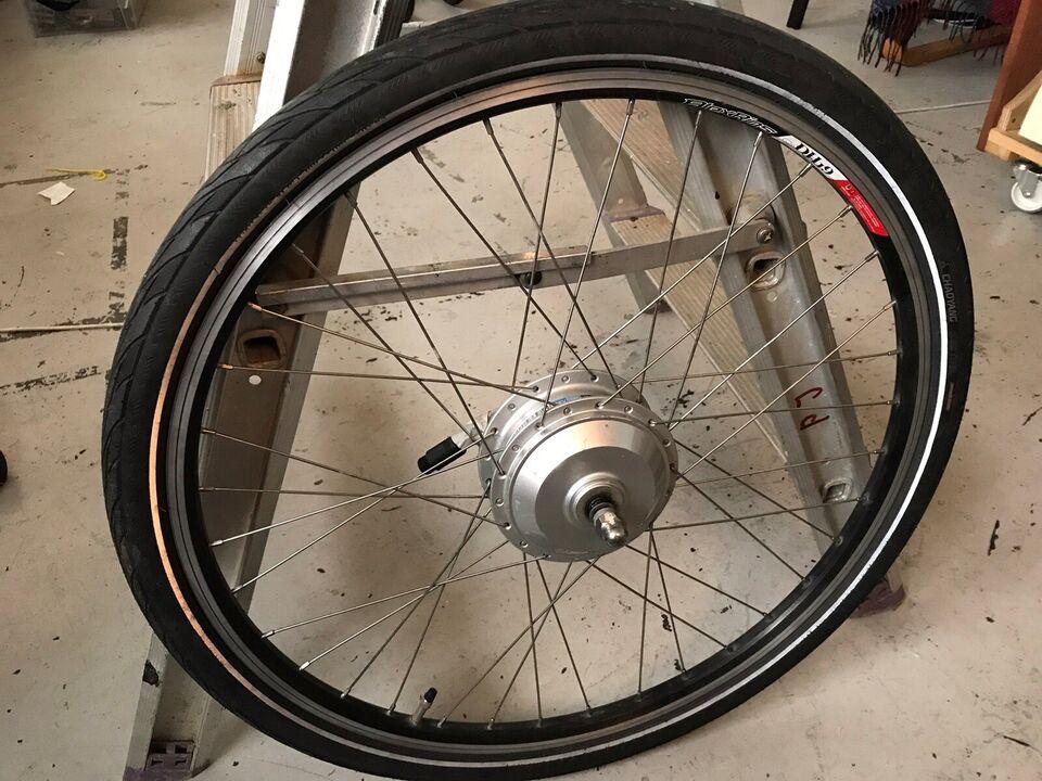 Elcykel-udstyr, Forhjul med navmotor
