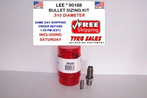 LEE PRECISION BULLET SIZING DIE KIT 90188 Details about  /LEE 90188 .510 DIAMETER