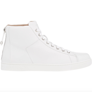 GIANVITO ROSSI LEATHER HIGH TOP SNEAKERS US 9