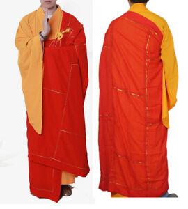 Shaolin Monk Dress Zen Buddhist Kesa Priest Cassock Robe Meditation Kung Fu Suit
