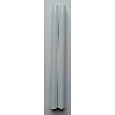 """RADSNAPS RADIATOR PIPE COVERS WHITE OR CHROME 200mm (8"""") x 15mm - CHOOSE QTY"""