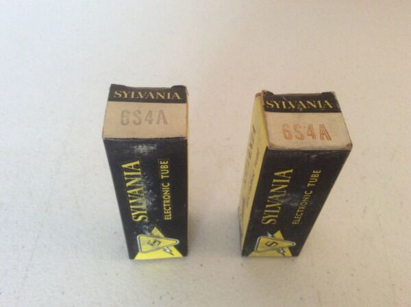 Vintage Slyvania Electron Vacuum Tube 6s4a (2) Nos Untested