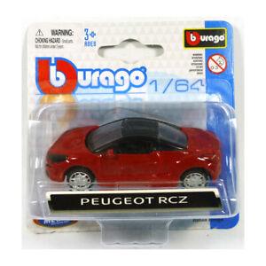Bburago-59000-Peugeot-RCZ-Red-Scale-1-64-Model-Car-New