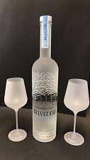 Belvedere Vodka Set 1,75l LED + 2 Belvedere Signature Glas Gläser 40%Vol NEU OVP