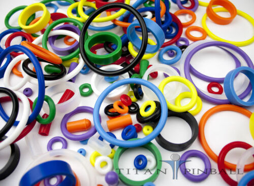 Universal Pinball Machine Rubber Ring Kit WHITE Titan Competition Silicone