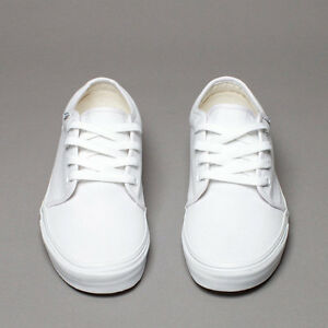 vans mens 106 vulcanized white casual shoes