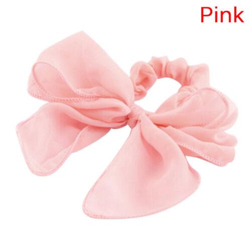 Alta adorable Niñas Para mujeres grande corbata de moño pelo cuerda Scrunchie Cola de Caballo soporte de diadema