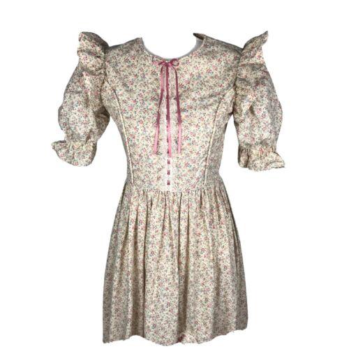 Vintage Praire/Cottagecore Floral Maxi Dress Size