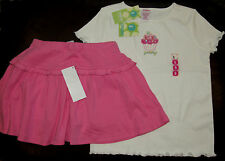 Gymboree Sweet Cupcake yummy cupcake top & pink knit skort skirt set NWT 6