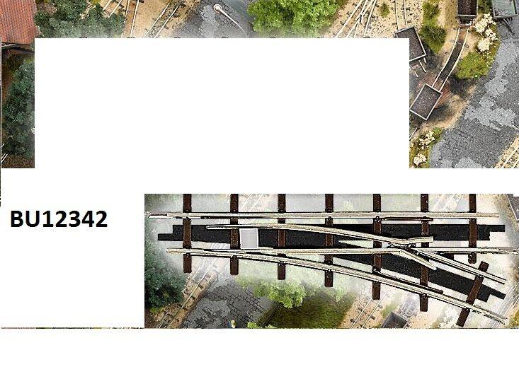 BUSCH 12342 Schmalspur H0f  Weiche rechts R 175 22,5° NEU OVP  | Qualität