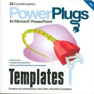 Powerplugs Templates 1 Blue Pc Cd Powerpoint Presentation