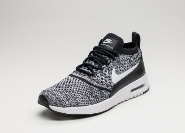 51a5d0e30f WOMENS NIKE AIR MAX THEA ULTRA FLYKNIT TRAINERS - UK SIZE 5 - BLACK/WHITE
