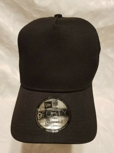 2 of 5 1X - New Era 9FORTY Snapback Trucker Cap Blank   BLACK   9Forty New  Era 0c99e221f8d