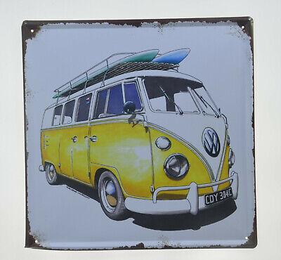 Neon sign Volkswagen Service since 1946 Huge bright Beetle garage Van Camper Bus